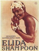 Vintage Elida Shampoon Advertising Poster.